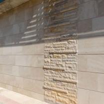 Fachada en Travertino Teruel diferentes texturas-2